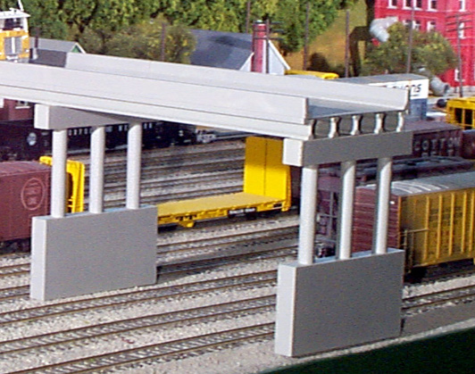 Rix Products MODERN HIGHWAY OVERPASS WITH PIER Kit HO Scale 628-0112