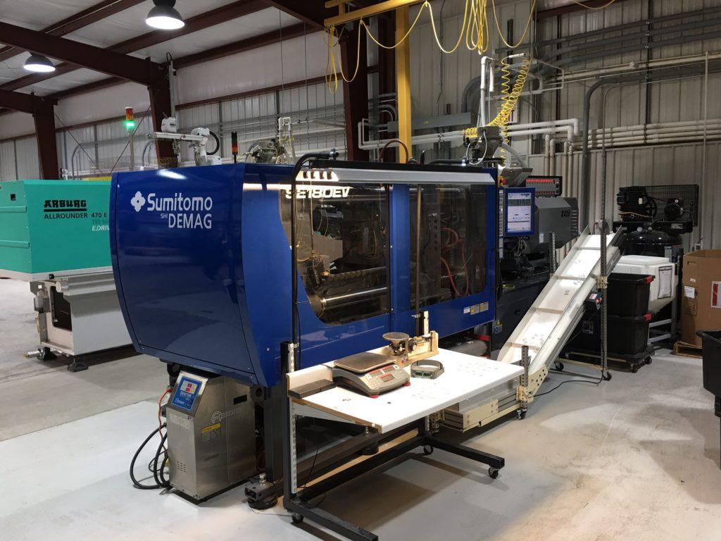 Sumitomo SE180EV Custom Plastics Injection Molding Van Dorn Evansville Indiana IN