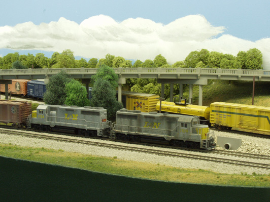 L&N RR Henderson Sub Rick Rideout Model railroad layout Rix Products